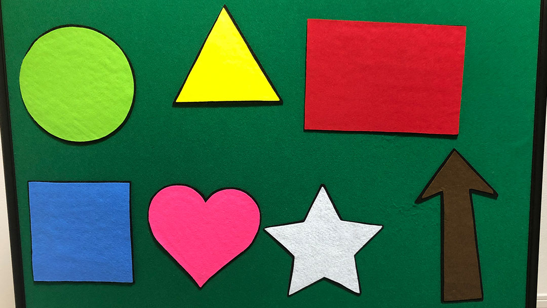 The Shape Game with Circle, Triangle, Rectangle, Square, Heart, Star, Arrow